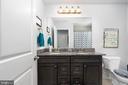 Upstairs full bath with dual sinks! - 10903 STOCKADE DR, SPOTSYLVANIA