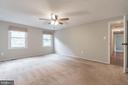 Ceiling fans in bedroom to provide comfort - 1227 AQUIA DR, STAFFORD