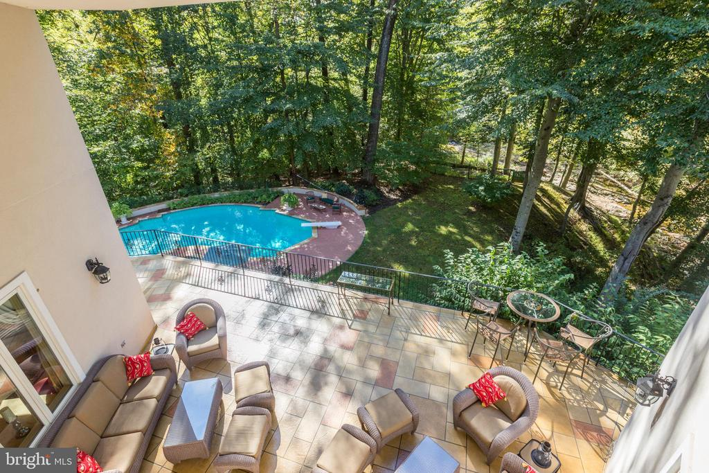 View from private upstairs loggia - 1342 POTOMAC SCHOOL RD, MCLEAN