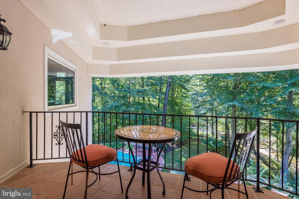 Private upstairs loggia - 1342 POTOMAC SCHOOL RD, MCLEAN