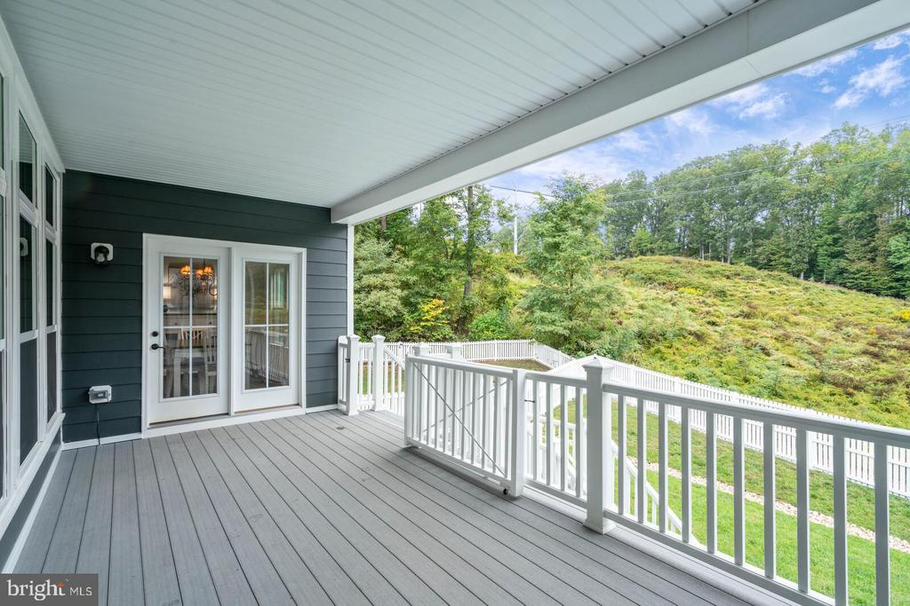 Back porch off the kitchen & owners suite - 17559 SPRING CRESS DR, DUMFRIES