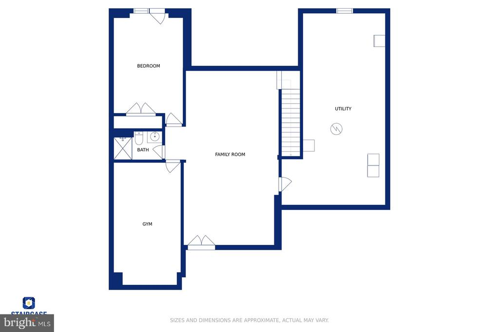 Floor -plan of the lower level - 17559 SPRING CRESS DR, DUMFRIES