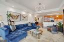 Living Room - Moooi Heracleum Pendant�Light - 1881 N NASH ST #307, ARLINGTON