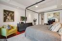 Bedroom - Tray Ceiling & Minka Aire Artemis Fan! - 1881 N NASH ST #307, ARLINGTON