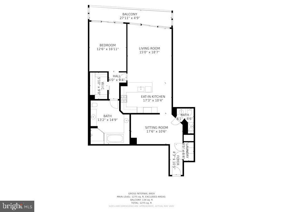 Floor Plan of Home - 1881 N NASH ST #307, ARLINGTON