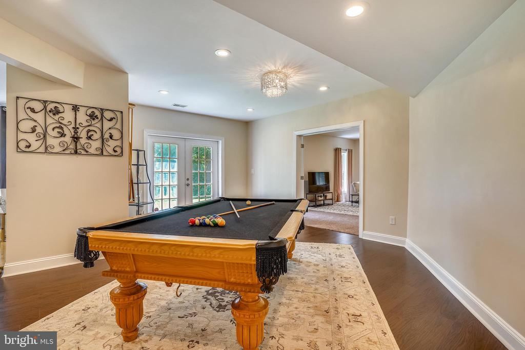 Game Room with French Doors to Yard - 2539 DONNS WAY, OAKTON