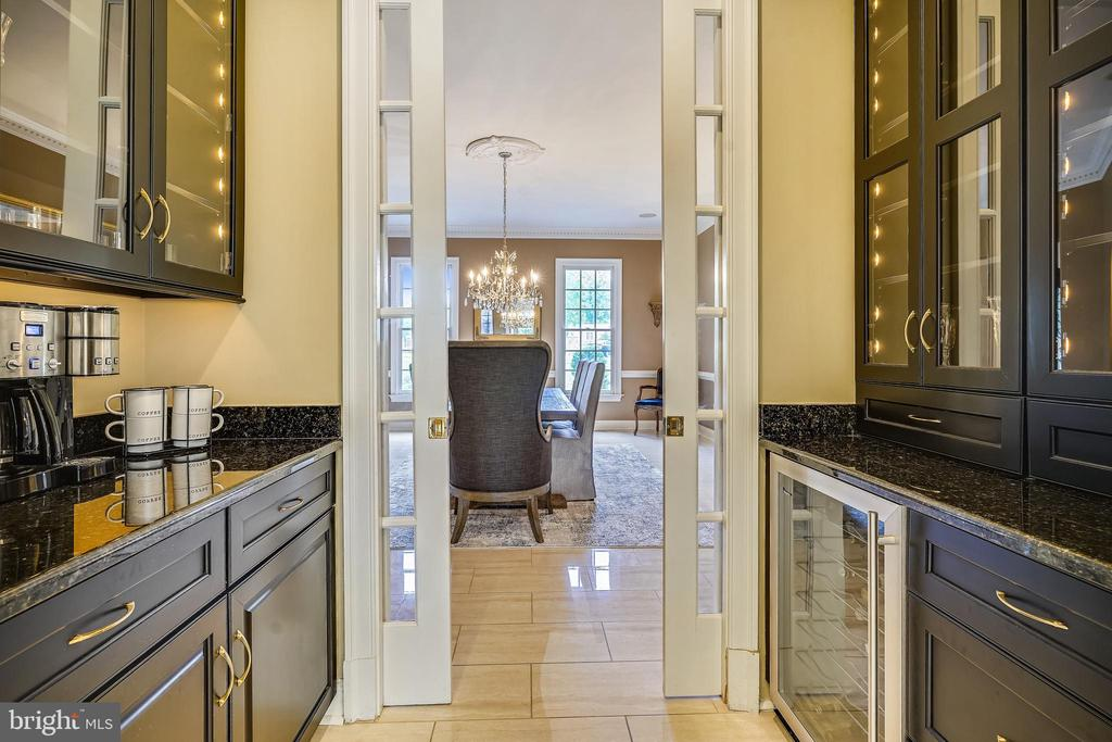 Butler's Pantry with Wine Fridge & Cabinetry - 2539 DONNS WAY, OAKTON