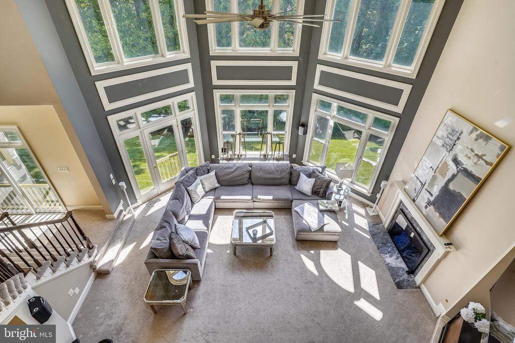 View of Great Room from Upper Level Landing - 2539 DONNS WAY, OAKTON