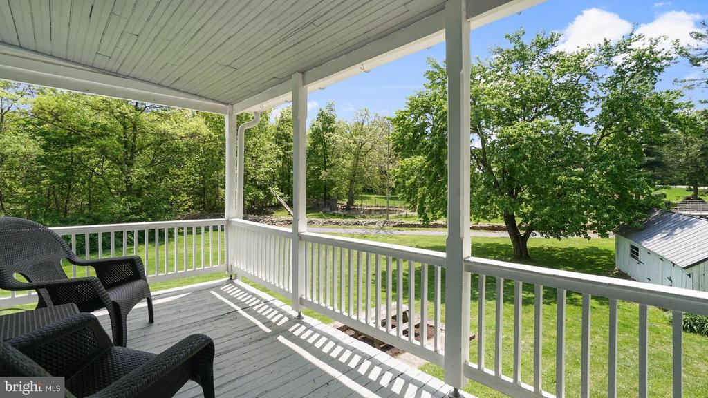 Upper level porch. That view! - 12823 BRICE RD, THURMONT