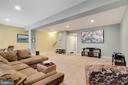 Recreation room view, garage access on this level. - 21260 PARK GROVE TER, ASHBURN