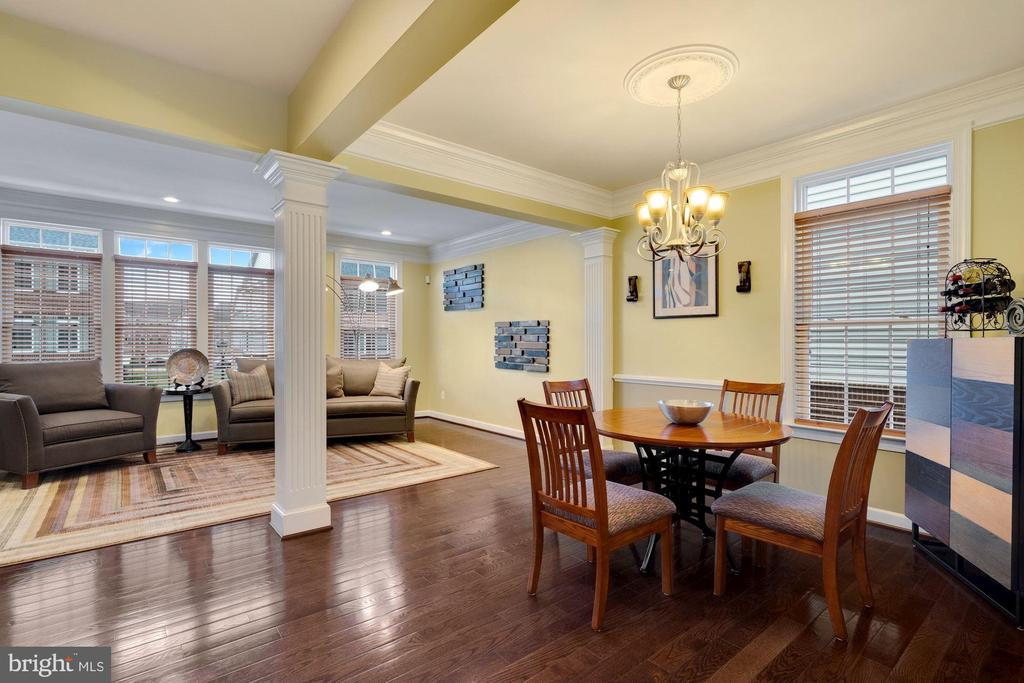 View of dining room and living room combo. - 21260 PARK GROVE TER, ASHBURN