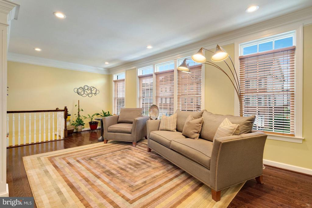 Living room with wall of windows. - 21260 PARK GROVE TER, ASHBURN
