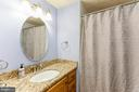 Updated Hall Bath with granite topped vanity - 108 ALMEY CT, STERLING