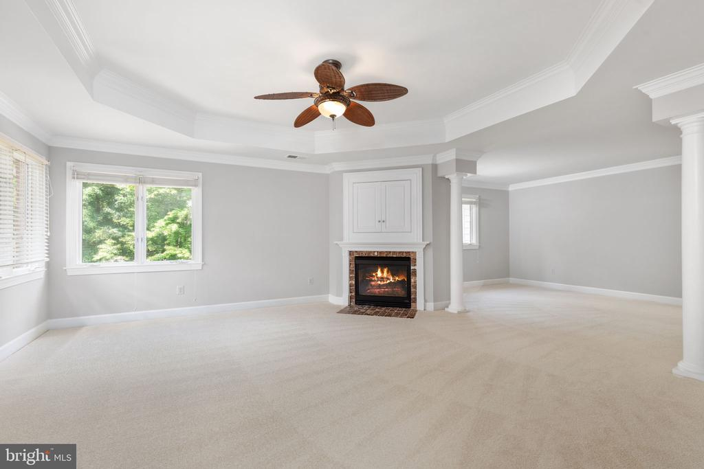 Primary suite with fire place - 20581 MYERS PL, LEESBURG
