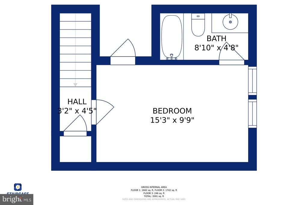 The upper  private oft and bath - 17559 SPRING CRESS DR, DUMFRIES