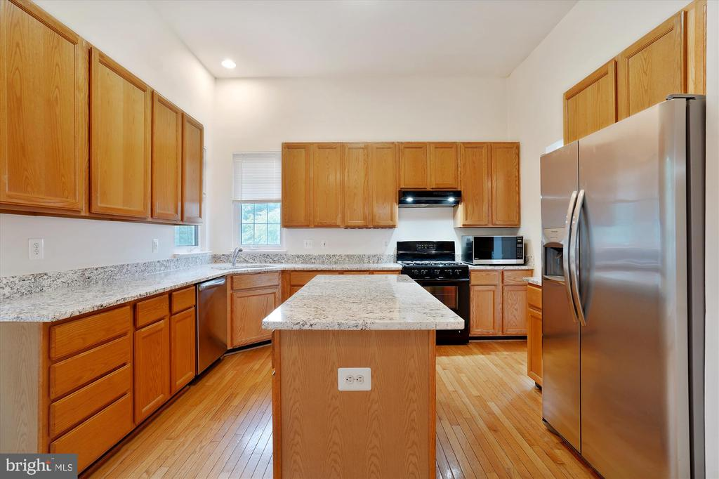 UPDATED KITCHEN WITH LARGE CENTER ISLAND - 20672 PARKSIDE CIR, STERLING
