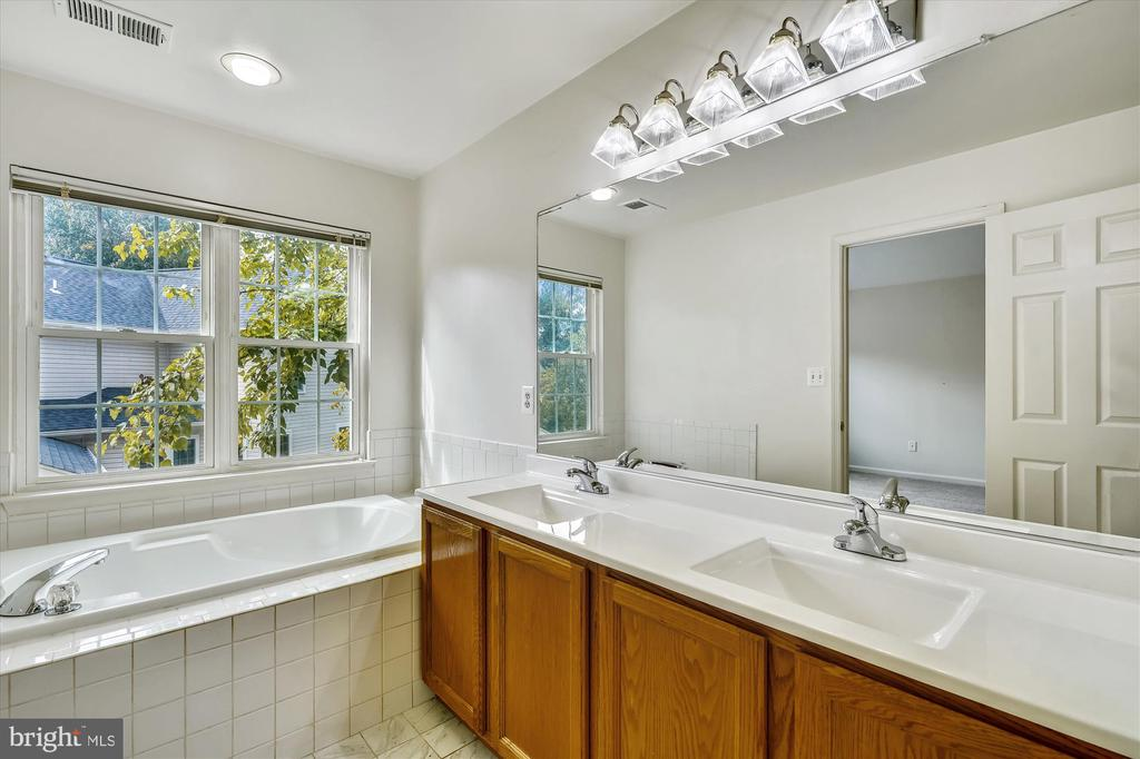 OWNER'S BATH WITH NEW FAUCET, NEW COUNTERS - 20672 PARKSIDE CIR, STERLING
