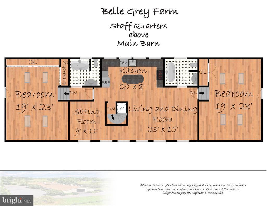 Main Barn Grooms Quarters Floor Plan - 21281 BELLE GREY LN, UPPERVILLE