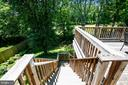 Stairs provide Access to Multi Level Deck - 6508 HAYSTACK RD, ALEXANDRIA