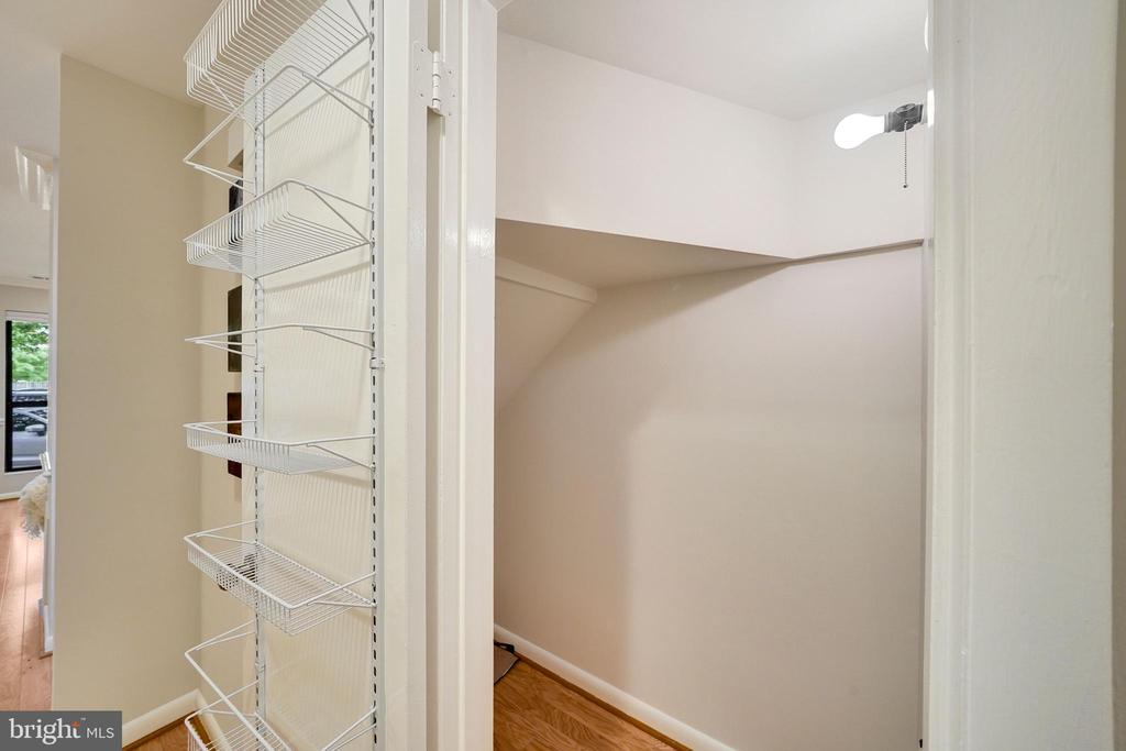 deep under the stairs closet for bikes and stuff - 4427 7TH ST N, ARLINGTON