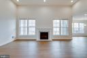 Added fireplace and upgraded mantel - 42758 AUTUMN DAY TERRACE, ASHBURN