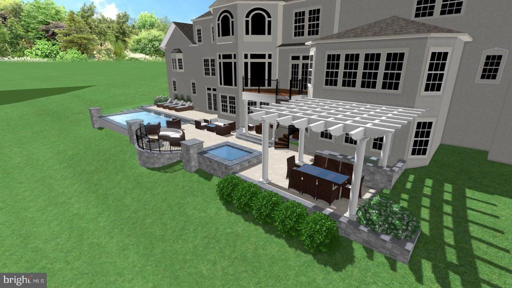 Pergola and Pool & Spa Proposal. - 2539 DONNS WAY, OAKTON