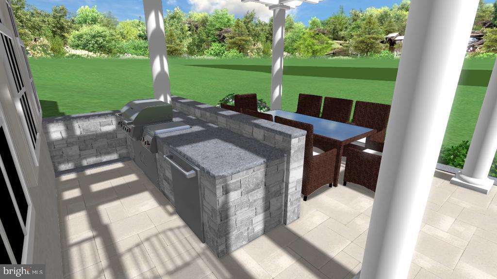 Outdoor Kitchen Concept. - 2539 DONNS WAY, OAKTON