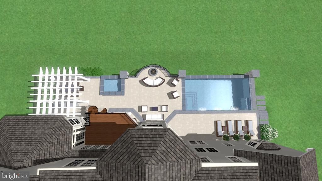 Overview of Outdoor Space Concept. - 2539 DONNS WAY, OAKTON