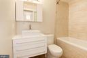 Upper Level Full Hall Bathroom - 1607 PARK OVERLOOK DR, RESTON