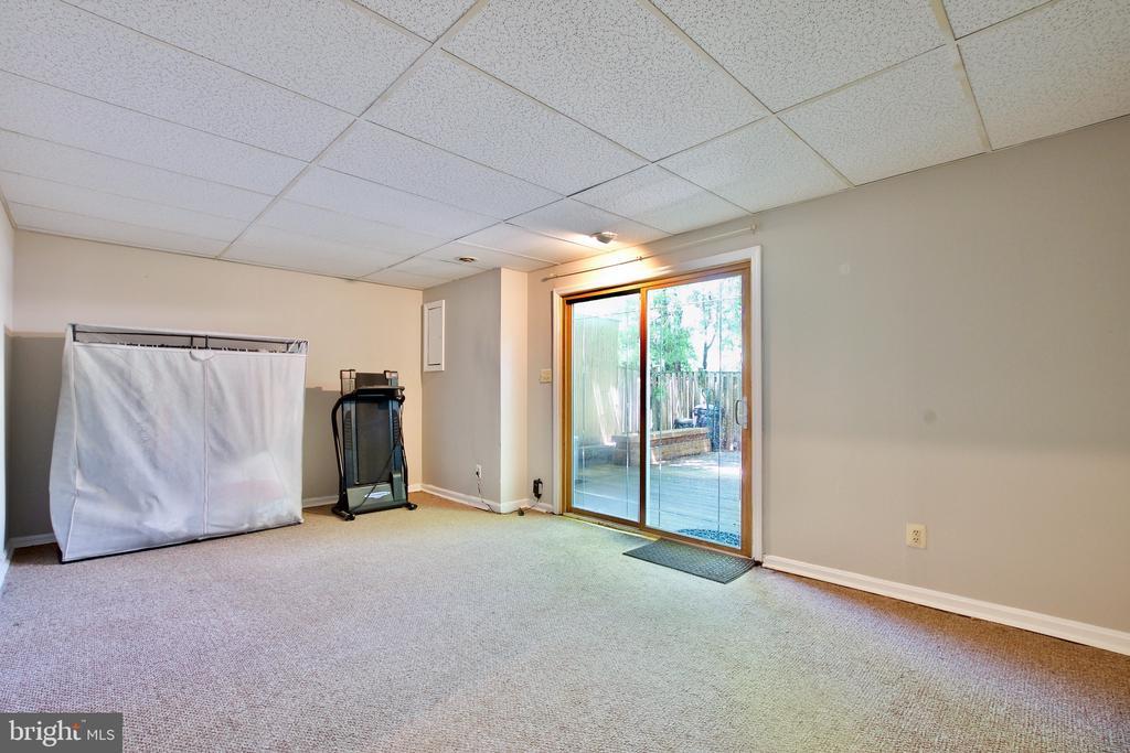 Lower Level Family Room - 9453 CLOVERDALE CT, BURKE