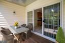 Deck with Virtual Staging - 1597 LEEDS CASTLE DR #101, VIENNA