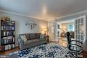 Formal living room with french doors - 132 NORTHAMPTON BLVD, STAFFORD