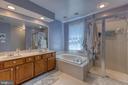 Primary bath with soaker tub & walk in shower - 132 NORTHAMPTON BLVD, STAFFORD