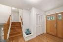 Foyer with View to Upper Landing - 5312 CARLTON ST, BETHESDA