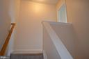 Stairwell heading up to master bedroom - 4900 EDGEWARE TER, FREDERICK
