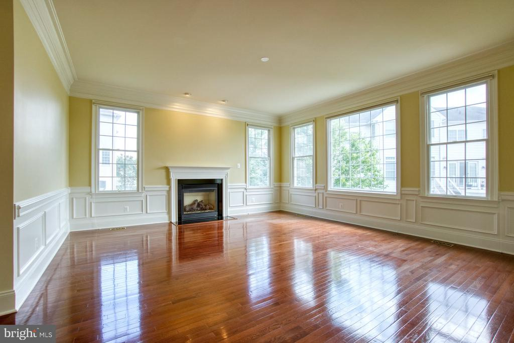 FORMAL LIVING ROOM WITH A GAS FIREPLACE - 20003 BELMONT STATION DR, ASHBURN