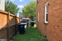 Side yard - 4639 A ST SE, WASHINGTON