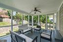 Screen porch off kitchen - 5507 DURBIN RD, BETHESDA