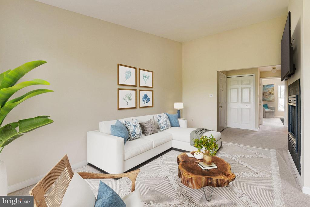Living Room virtually staged (it is vacant) - 44154 NATALIE TER #301, ASHBURN