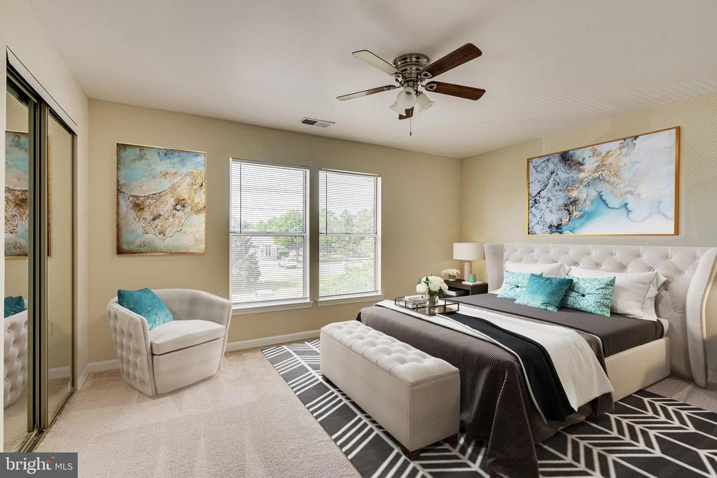 Bedroom - virtually staged. Large with 2  closets - 44154 NATALIE TER #301, ASHBURN