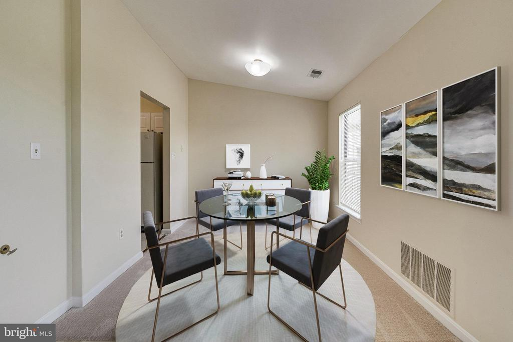 Dining Room shown with virtual staging - 44154 NATALIE TER #301, ASHBURN