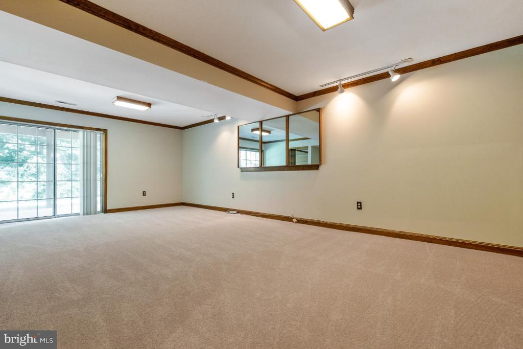 Wonderful recreation room with walk out to patio - 7324 JENNA RD, SPRINGFIELD