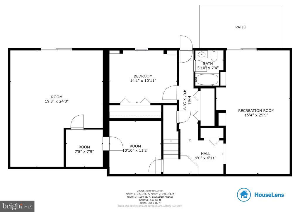 Lower level floor plan - 7324 JENNA RD, SPRINGFIELD