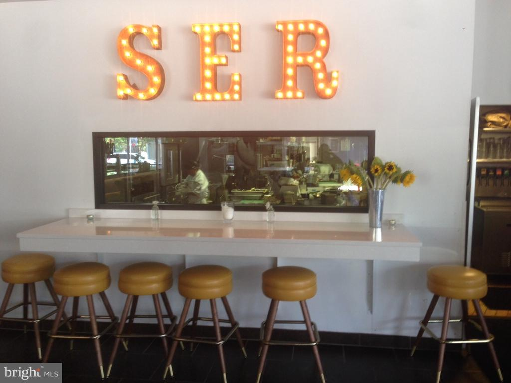 You could eat here at SER - 4110 WASHINGTON BLVD, ARLINGTON