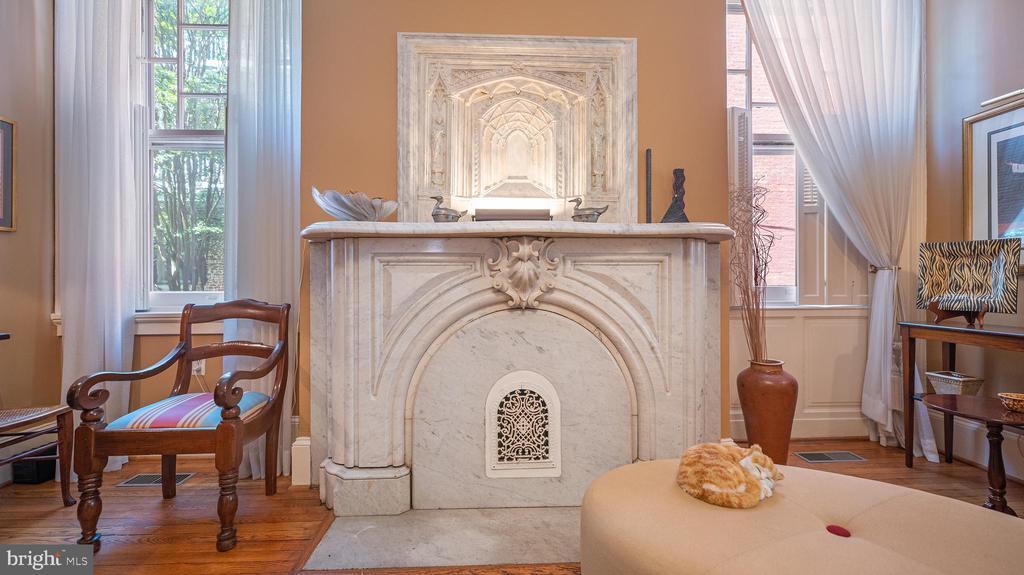 fireplace detail - 100 E 2ND ST, FREDERICK