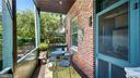 private covered rear porch - 100 E 2ND ST, FREDERICK