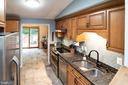 Modern Kitchen with a breakfast nook - 5919 VERNONS OAK CT, BURKE