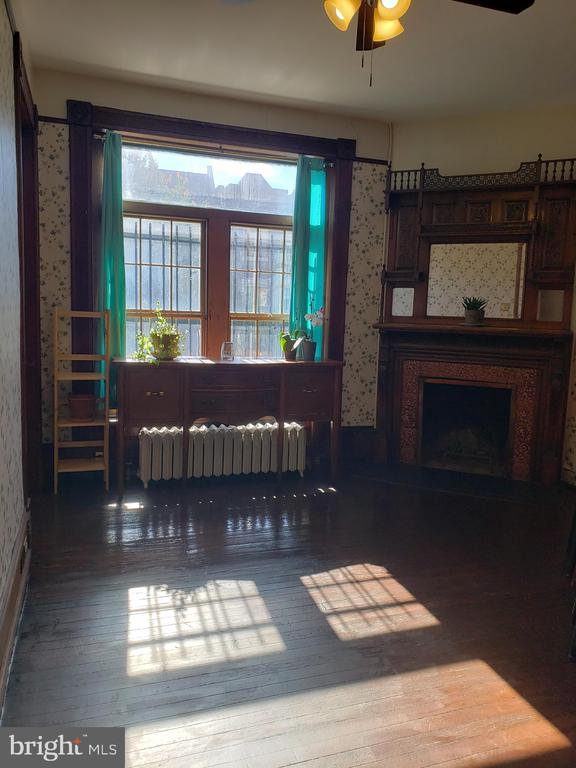 Beautiful Window and Fireplace in Main Kitchen. - 1115 RHODE ISLAND AVE NW, WASHINGTON