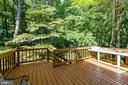 Open deck area just off the sunroom - 3208 SHOREVIEW RD, TRIANGLE