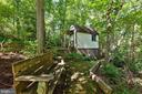 HUGE exterior shed with extensive hardscaping - 3208 SHOREVIEW RD, TRIANGLE